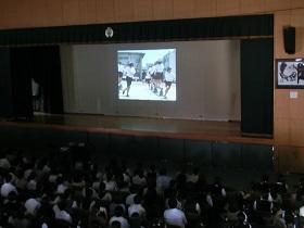 学校紹介ビデオの上映