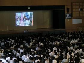 学校紹介ビデオ上映