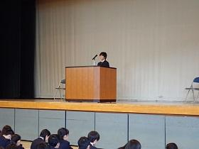 かるた同好会関東大会出場選手のあいさつ